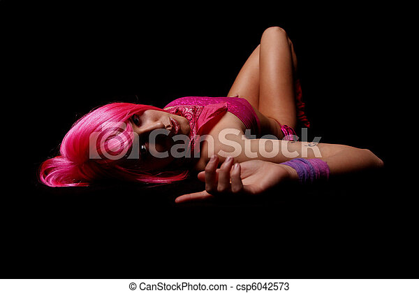 A sexy young woman - csp6042573
