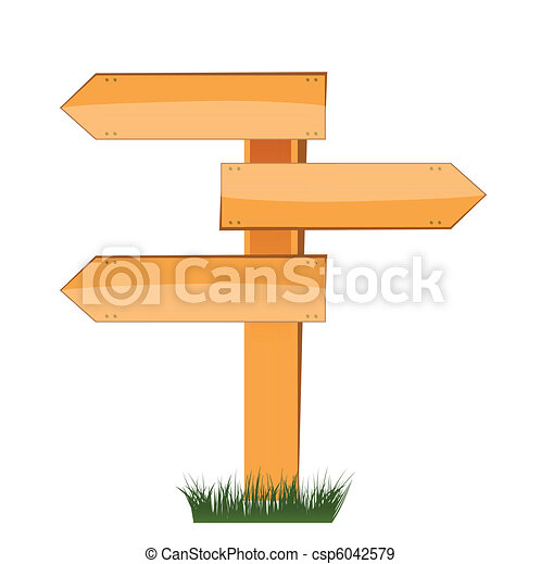 three empty arrow sign - csp6042579