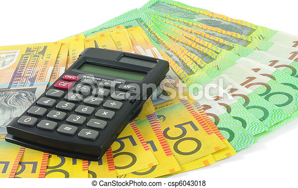 calculadora, Dinheiro - csp6043018