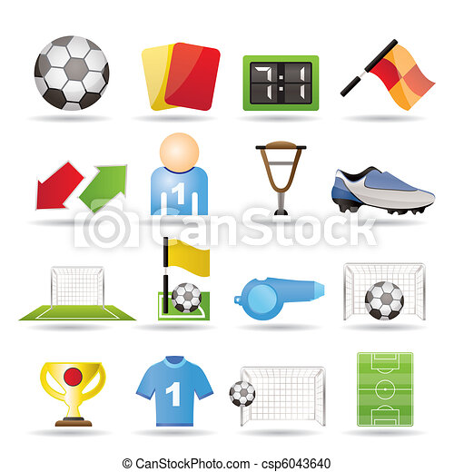 football, soccer and sport icons  - csp6043640