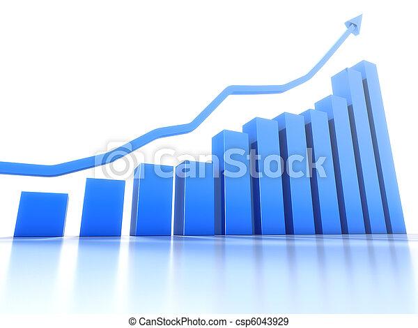 Common graph showing positive trend - csp6043929