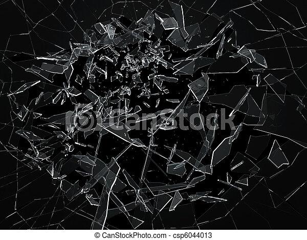 Breaking glass  - csp6044013