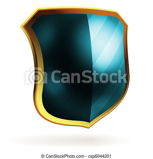 Vector blue shield template item. EPS 8 - csp6044201