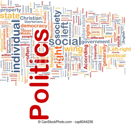 Politics social background concept - csp6044236