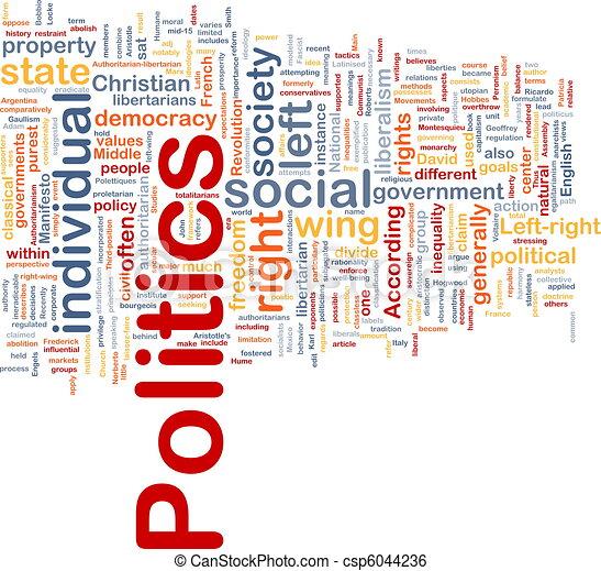 política, concepto, plano de fondo, social - csp6044236