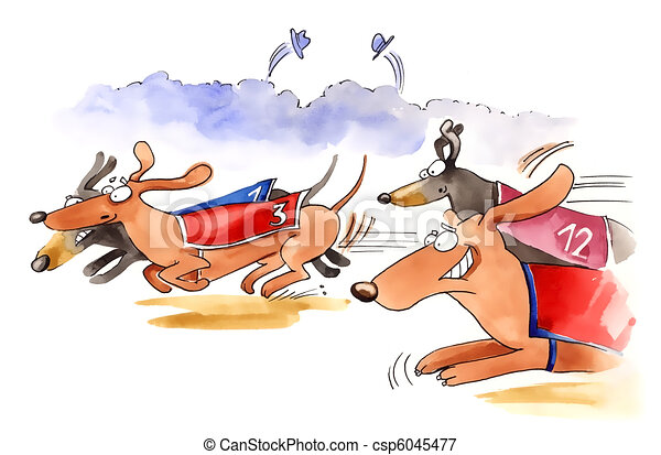 dachshund dogs race - csp6045477