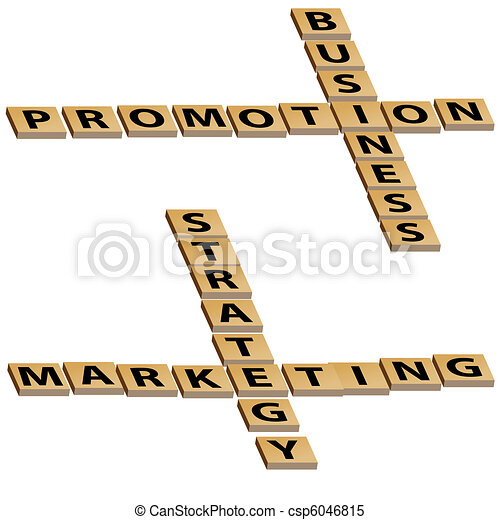 Business Promotion Marketing Strategy Crossword Puzzle - csp6046815