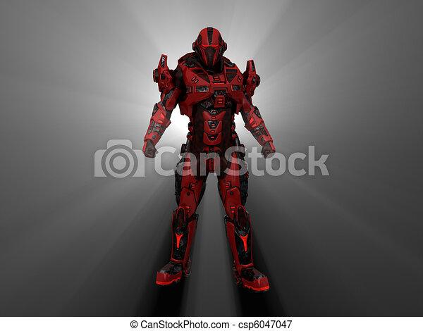 Robot soldier - csp6047047