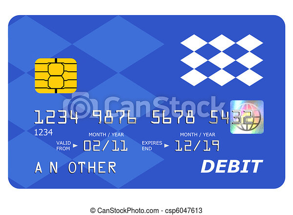 Bank debit card mock up isolated on white. - csp6047613