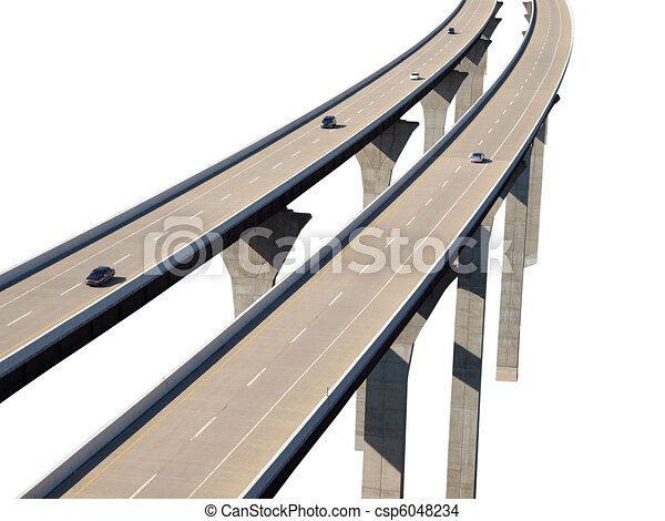 Freeway Bridge Isolation with Cars - csp6048234