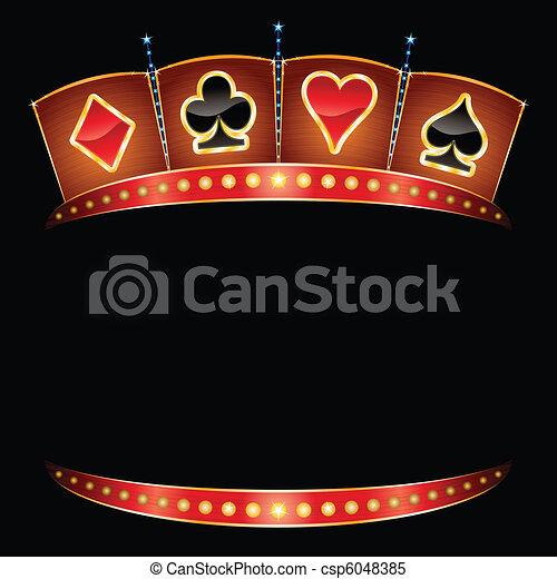 Vector - Casino neon - stock illustration, royalty free illustrations