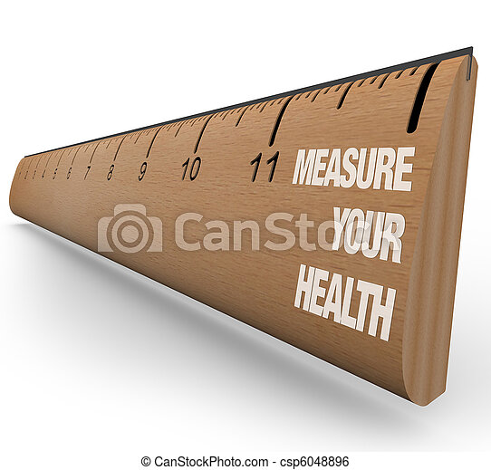 régua,  -, saúde, seu, medida - csp6048896