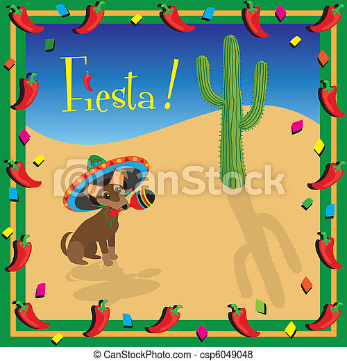 Chiwawa's Mexican Fiesta Party - csp6049048