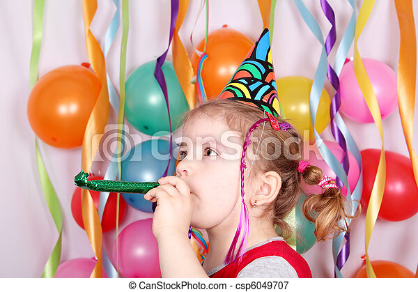 little girl birthday party - csp6049707