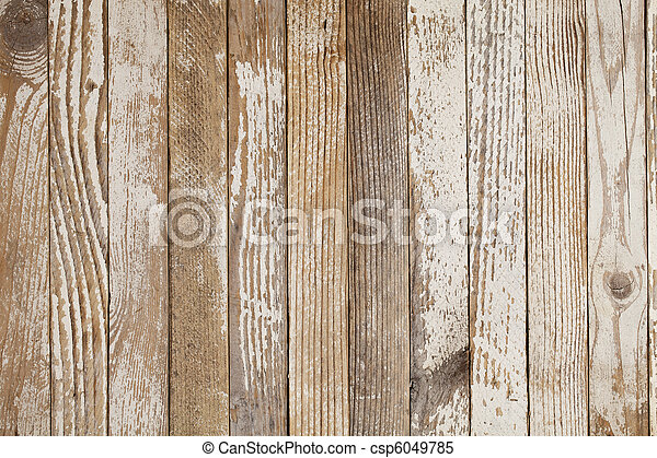 old wood painted white - csp6049785