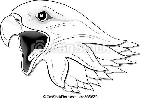 Clip art de aigle 3 illustration de aigle noir blanc csp6050552 recherchez des clipart - Dessin d aigle royal ...