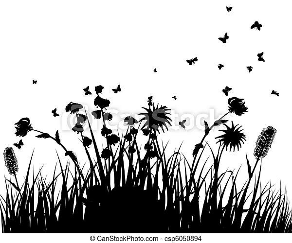 meadow silhouettes - csp6050894