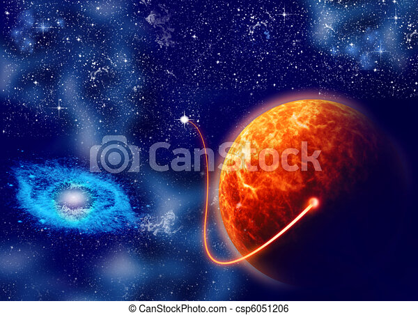 Start spaceship from a planet Mars - csp6051206