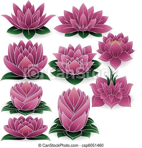 Lotus Set Colored 3 - csp6051460