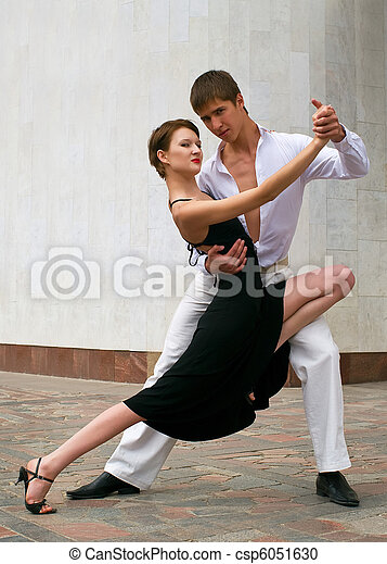 couple dancing Latino dance - csp6051630