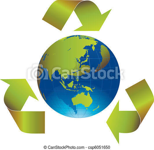 Recycle the world - csp6051650