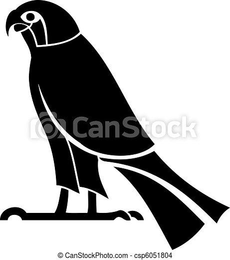 Egyption God Horus Silhouette - csp6051804