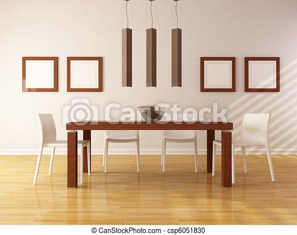 minimalist dining room - csp6051830