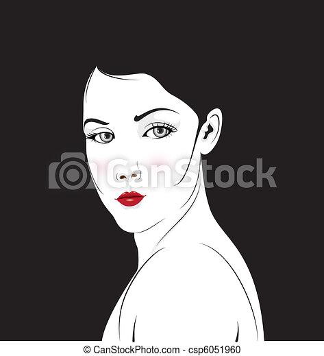 Elegant Face - csp6051960