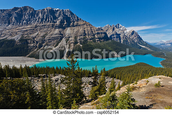 Peyto Lake, Banff National Park, Canada - csp6052154