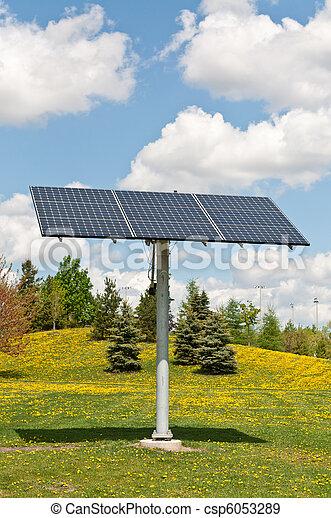 Renewable Energy - Photovoltaic Solar Panel Array - csp6053289