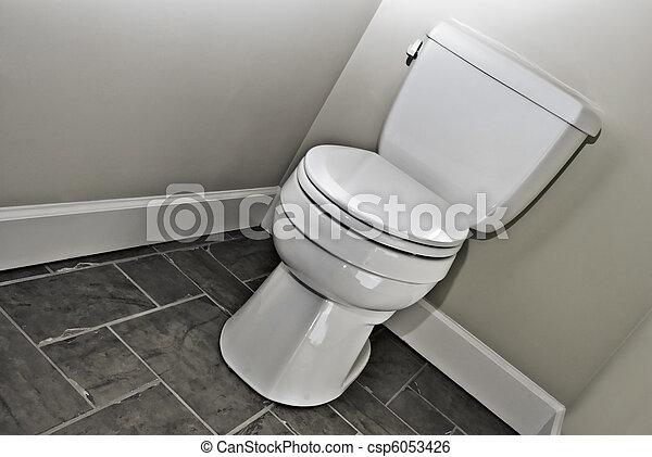 image de moderne toilette a moderne toilette salle bains noir csp6053426 recherchez. Black Bedroom Furniture Sets. Home Design Ideas
