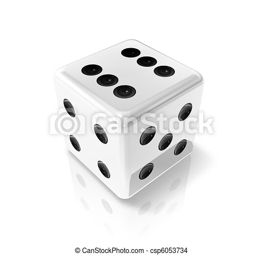 white win dice - csp6053734