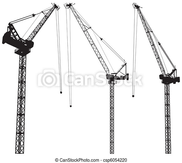 Elevating Construction Crane - csp6054220