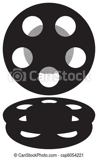 Vector Clip Art of Film Reel Vector csp6054221 - Search Clipart ...