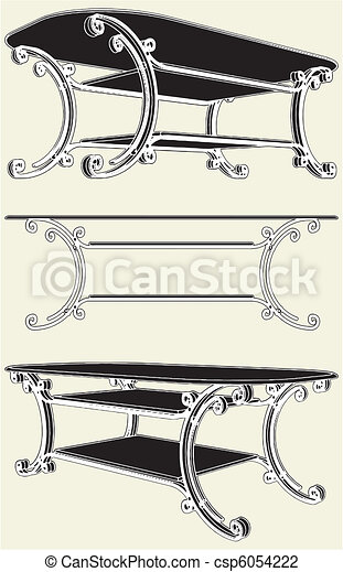 Antique Table  - csp6054222