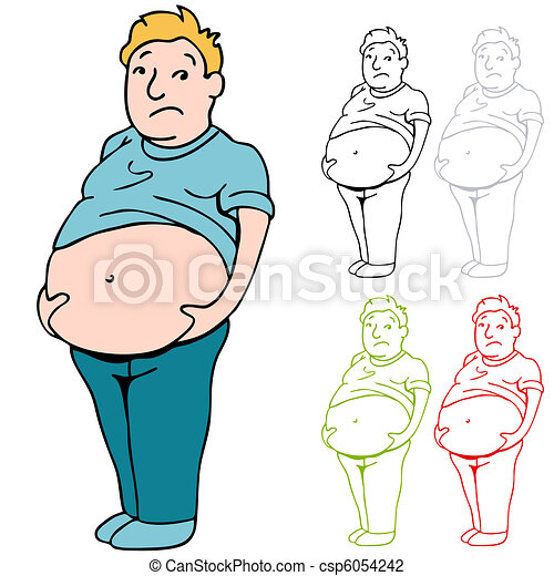 Male Heavy Belly - csp6054242