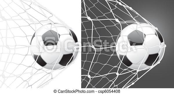 Score a goal, soccer ball - csp6054408