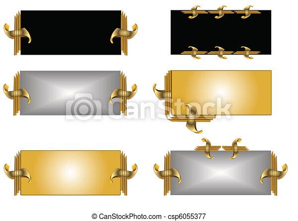 multi designed name tags - csp6055377