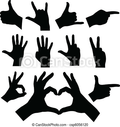 hands silhouettes - csp6056120