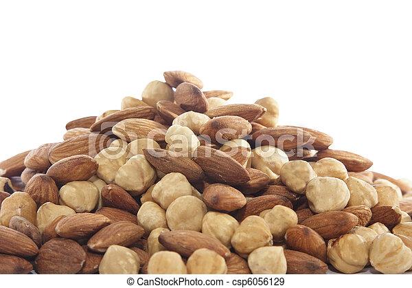 Almond and hazelnut - csp6056129