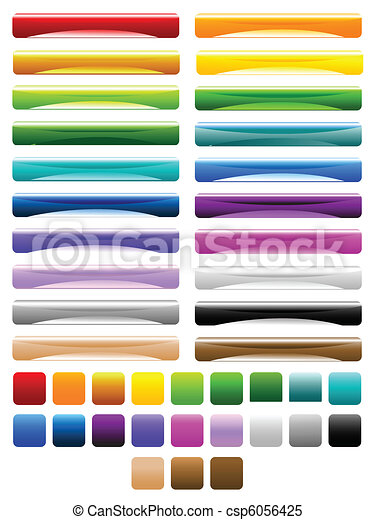 glossy colorful buttons - csp6056425