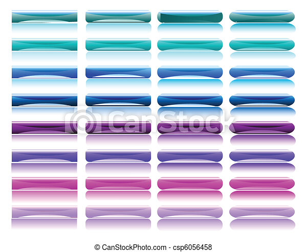 glossy colorful buttons - csp6056458