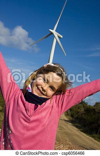 girl with renewable energies - csp6056466