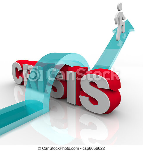 Crisis - Overcoming an Emergency with Disaster Plan - csp6056622
