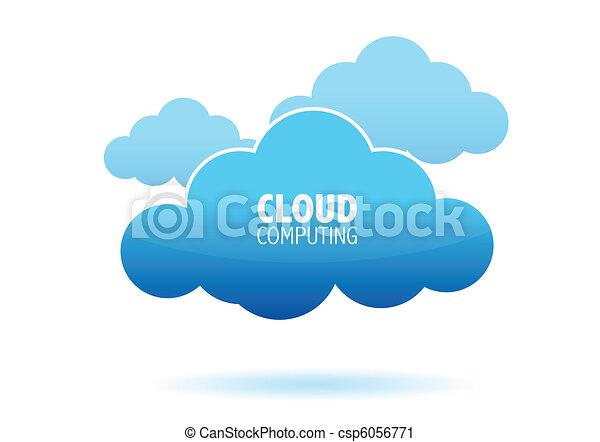 Cloud computing concept - csp6056771