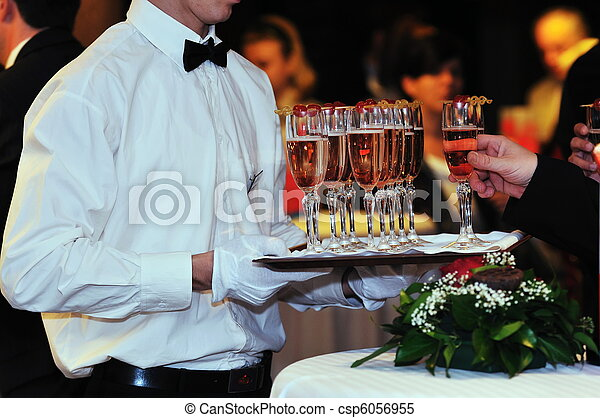 coctail and banquet catering party event - csp6056955