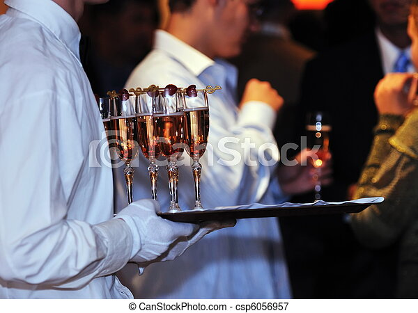 coctail and banquet catering party event - csp6056957