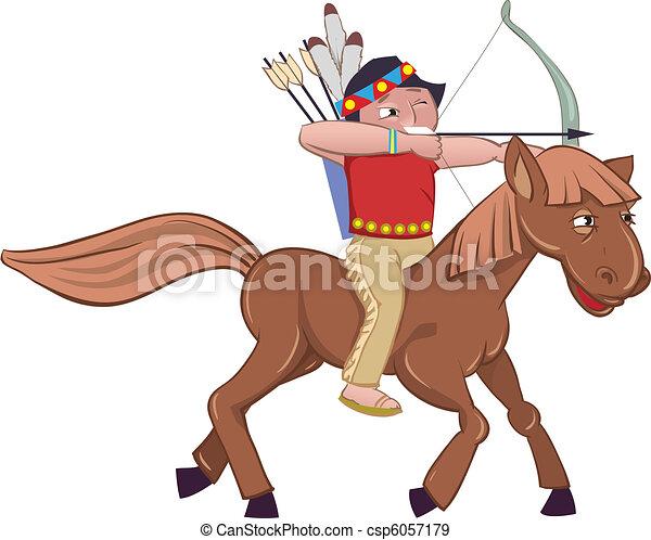 Vecteurs eps de cheval indien american indian sur cheval csp6057179 recherchez des - Dessin anime indien cheval ...