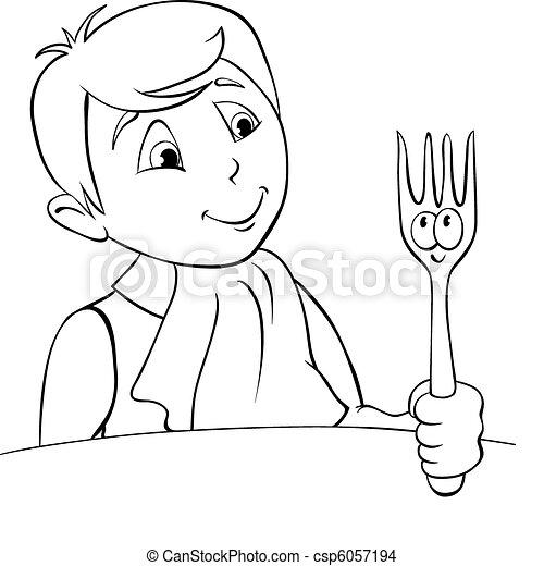 Diner Boy - csp6057194