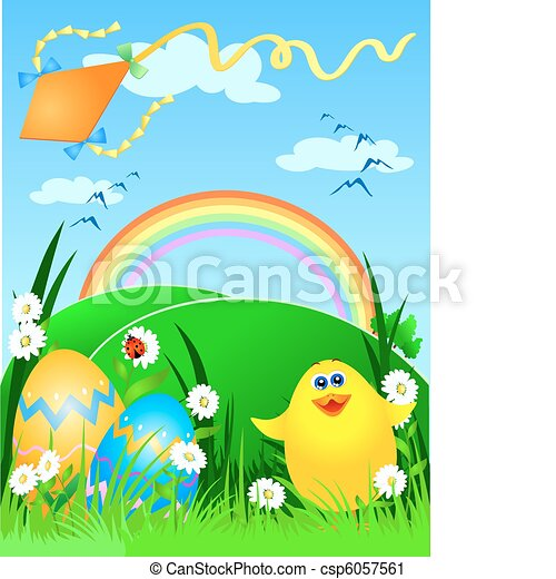 Easter card - csp6057561